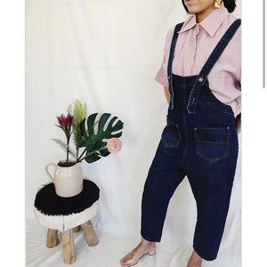 Denim - Modern denim overalls
